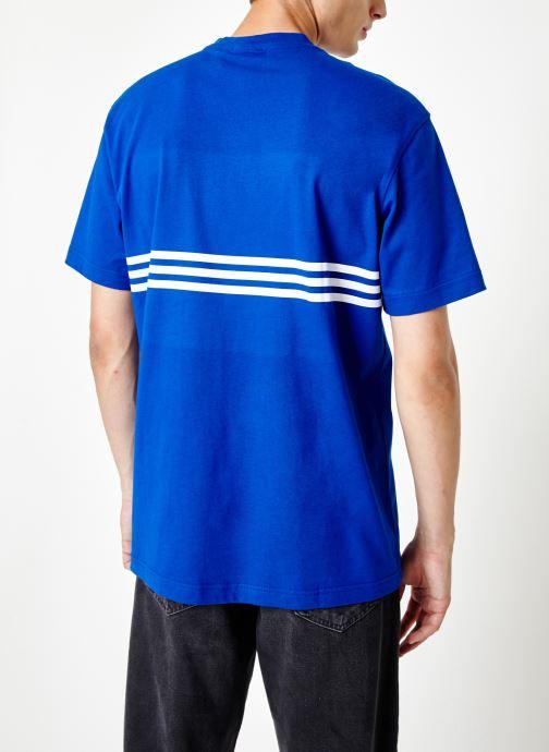 Kleding adidas originals Outline Trf Tee Blauw model