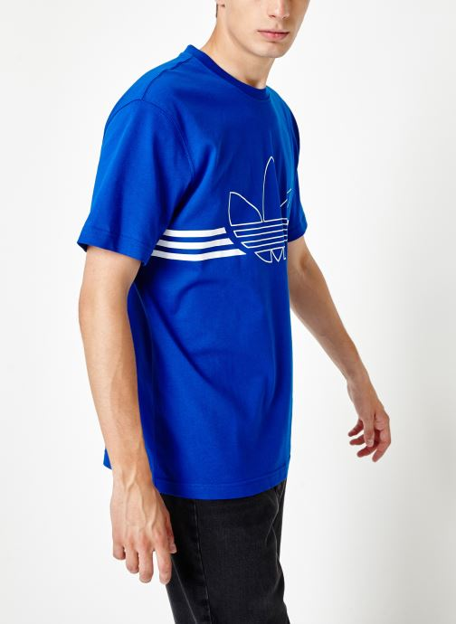 Kleding adidas originals Outline Trf Tee Blauw rechts