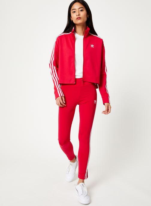 Vêtements adidas originals Tracktop Rose vue bas / vue portée sac
