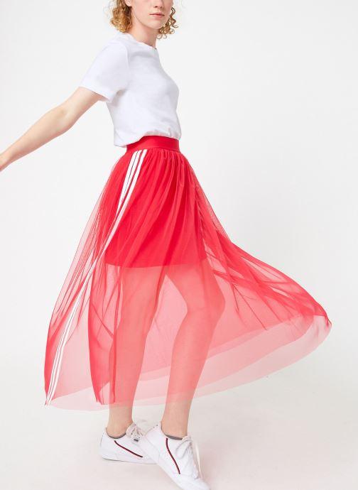 Vêtements adidas originals Tulle Skirt Rose vue bas / vue portée sac
