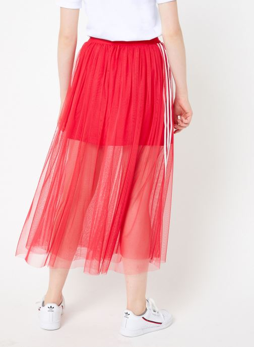 Vêtements adidas originals Tulle Skirt Rose vue portées chaussures