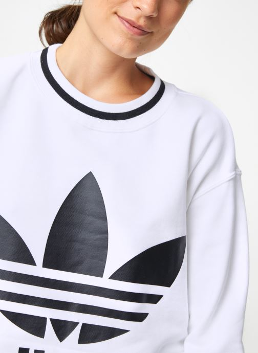 Vêtements adidas originals Cropped Sweater Blanc vue face