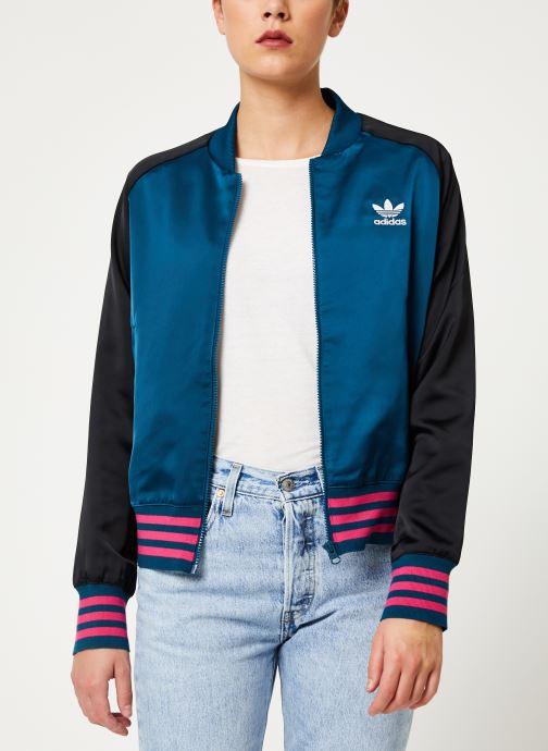 Vêtements adidas originals Satin Bomber Tt Rose vue détail/paire
