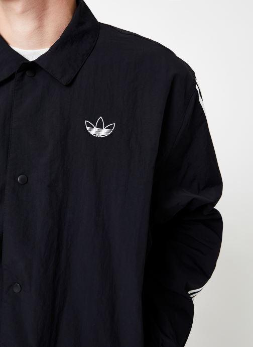 Vêtements adidas originals Trefoil Coach J Noir vue face