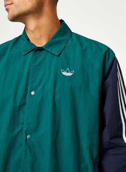 Vêtements adidas originals Trefoil Coach J Vert vue face