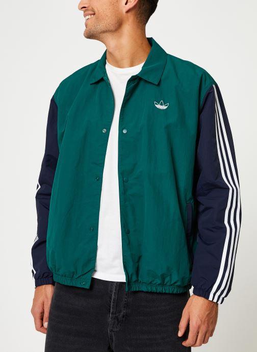 Vêtements adidas originals Trefoil Coach J Vert vue droite