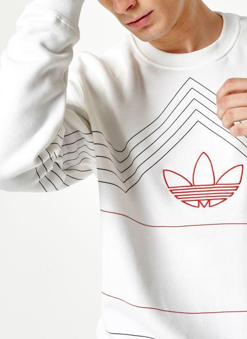 Vêtements adidas originals Rivalry Crew Blanc vue face