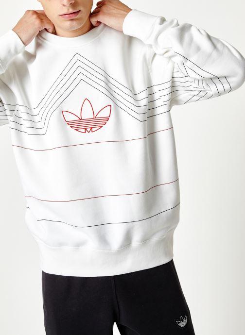 Vêtements adidas originals Rivalry Crew Blanc vue détail/paire