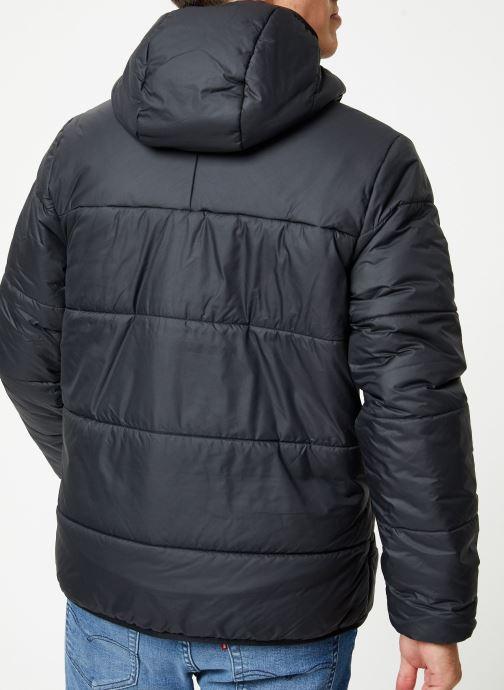Vêtements adidas originals Jacket Padded Noir vue portées chaussures