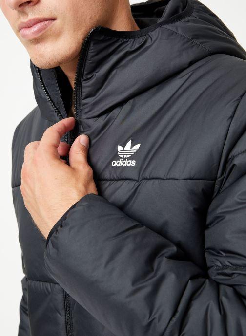 Tøj adidas originals Jacket Padded Sort se forfra