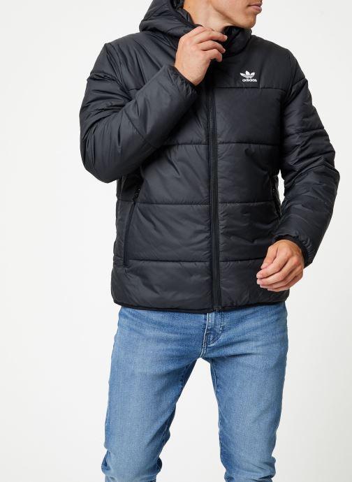 Vêtements adidas originals Jacket Padded Noir vue droite
