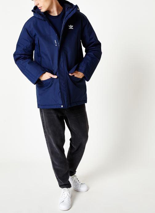 adidas originals Manteau mi-long - Parka Padde (Bleu) - Vêtements (399203)