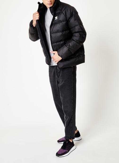 Tøj adidas originals Jacket Down Sort se forneden