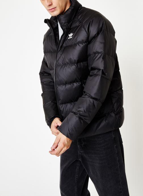 Kleding adidas originals Jacket Down Zwart rechts
