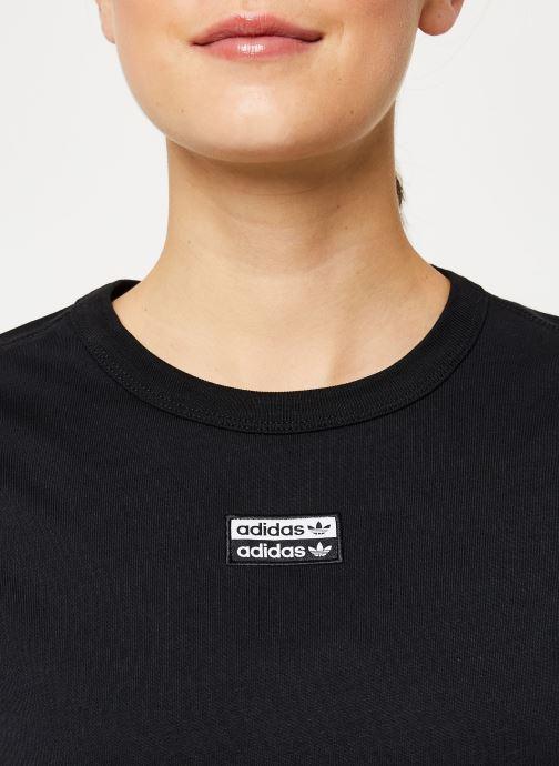 Vêtements adidas originals T Shirt Noir vue face