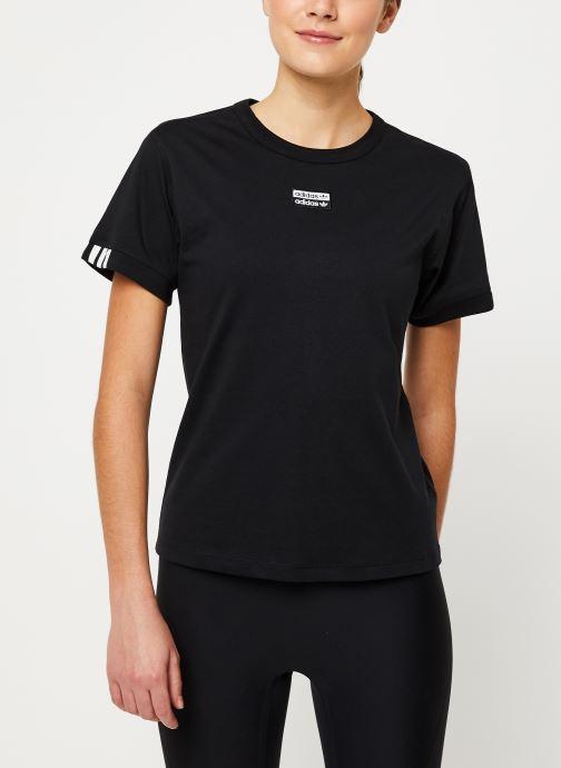 Vêtements adidas originals T Shirt Noir vue droite