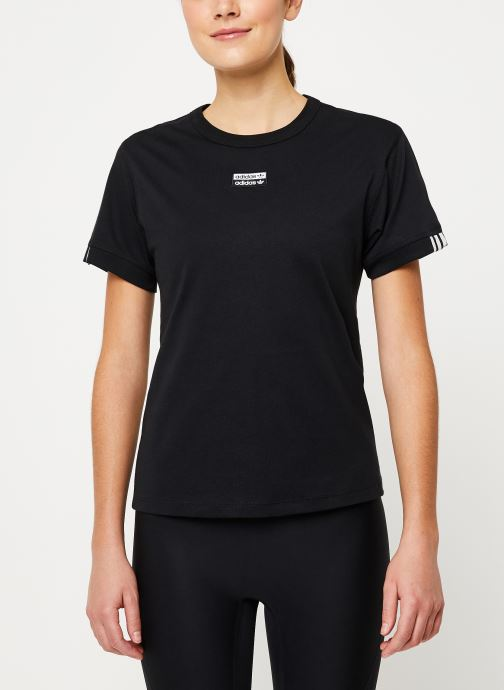 Vêtements adidas originals T Shirt Noir vue détail/paire