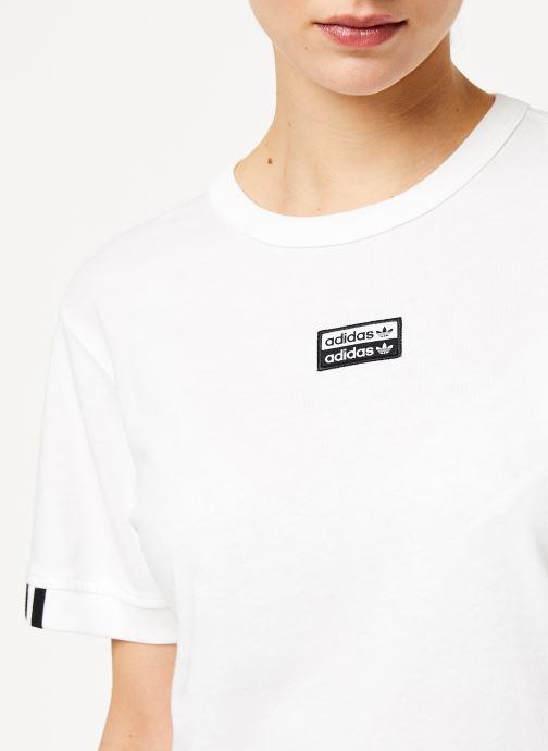 Vêtements adidas originals Vocal T Shirt Blanc vue face