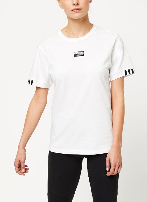 Vêtements adidas originals Vocal T Shirt Blanc vue droite