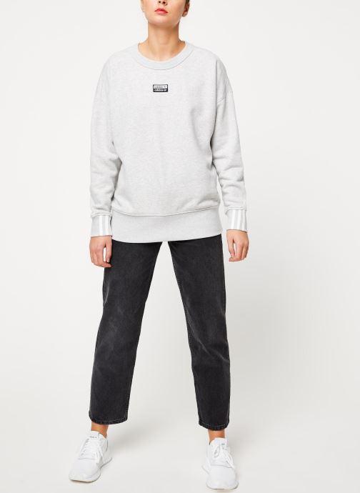 Vêtements adidas originals Vocal Sweat Gris vue bas / vue portée sac