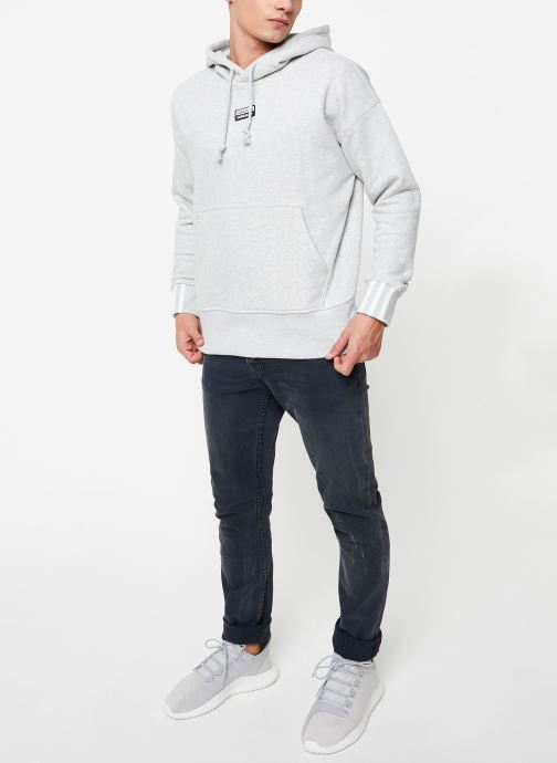 Vêtements adidas originals Hoodie Gris vue bas / vue portée sac