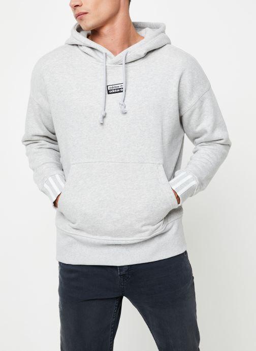 Vêtements adidas originals Hoodie Gris vue droite