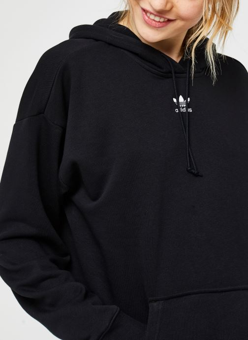 Vêtements adidas originals Hoodie Noir vue face