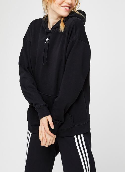 Vêtements adidas originals Hoodie Noir vue droite