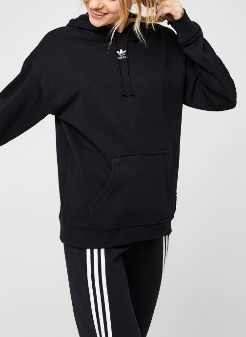 Vêtements adidas originals Hoodie Noir vue détail/paire
