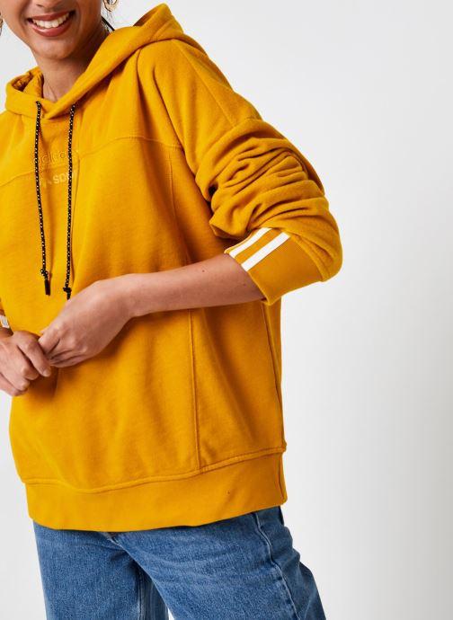 Vêtements adidas originals Hoodie Jaune vue détail/paire