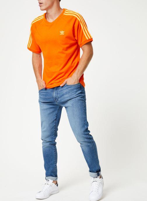 Vêtements adidas originals Blc 3-S Tee Orange vue bas / vue portée sac