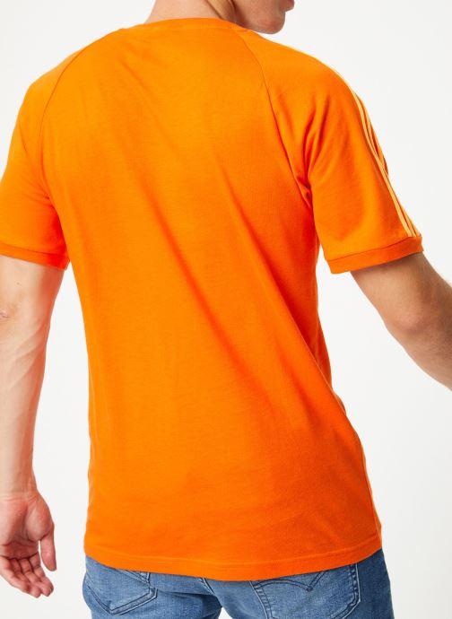 Vêtements adidas originals Blc 3-S Tee Orange vue portées chaussures