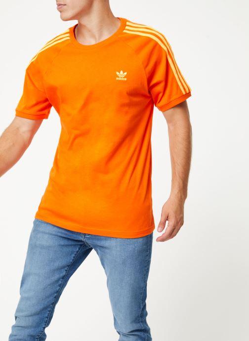 Vêtements adidas originals Blc 3-S Tee Orange vue droite