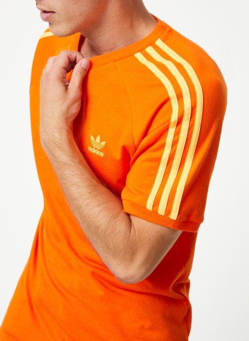 Kleding adidas originals Blc 3-S Tee Oranje detail