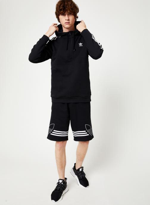 Vêtements adidas originals 3-Stripes Hz Noir vue bas / vue portée sac
