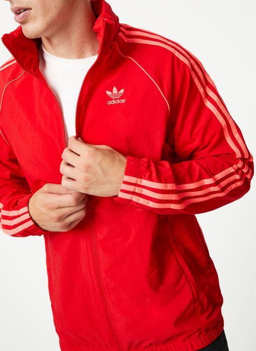 Vêtements adidas originals Blc Sst Wb Rouge vue détail/paire