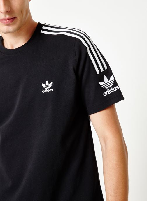 Vêtements adidas originals Lock Up Tee Noir vue face