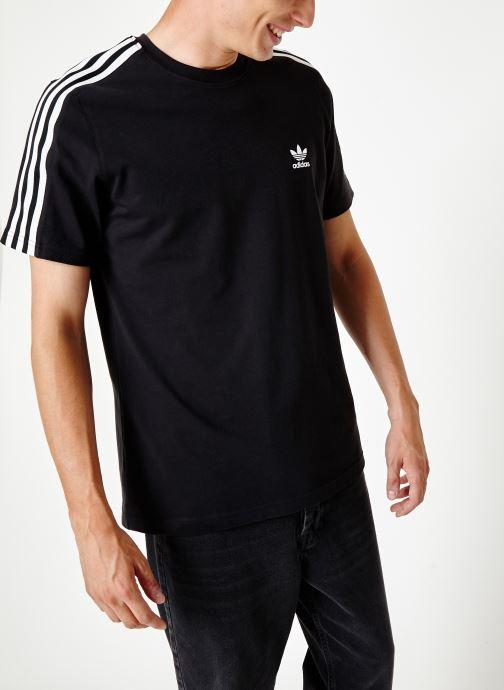 Vêtements adidas originals Lock Up Tee Noir vue droite