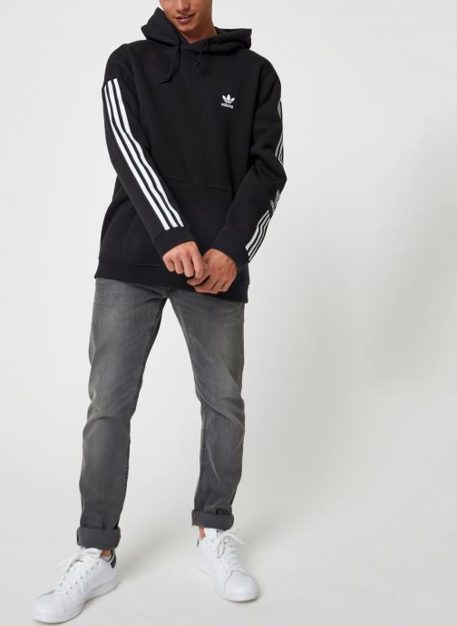 Vêtements adidas originals Lock Up  Hoody Noir vue bas / vue portée sac