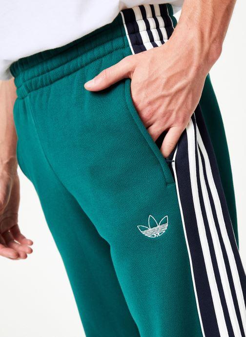 Kleding adidas originals 3 Stripe Panel Groen voorkant