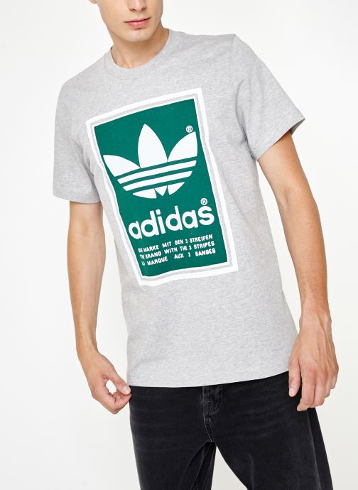 Vêtements adidas originals Filled Label Gris vue détail/paire