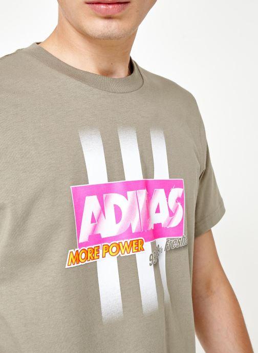Vêtements adidas originals Bodega Logo Tee Gris vue face