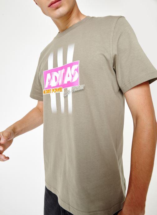 Vêtements adidas originals Bodega Logo Tee Gris vue droite