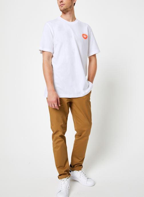 Vêtements adidas originals Bodega Poster T Blanc vue bas / vue portée sac