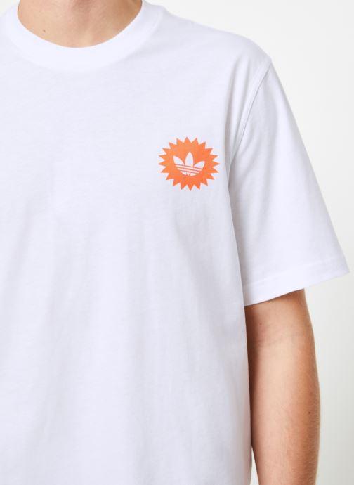 Vêtements adidas originals Bodega Poster T Blanc vue face