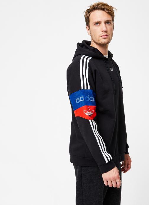 Vêtements adidas originals Ts Trf Hoody Noir vue droite