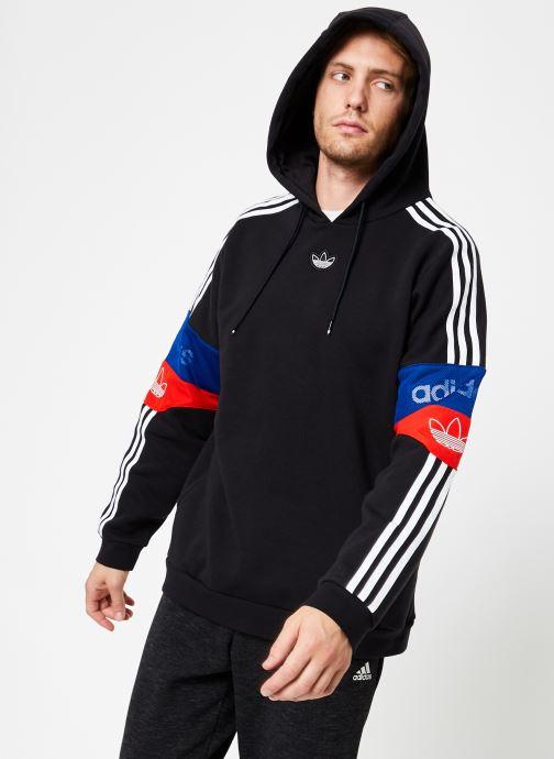 Vêtements adidas originals Ts Trf Hoody Noir vue détail/paire