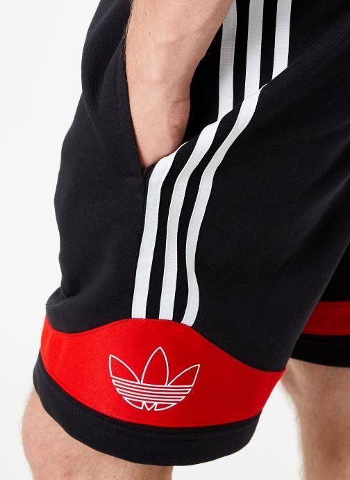 Vêtements adidas originals Ts Trf Short Noir vue face