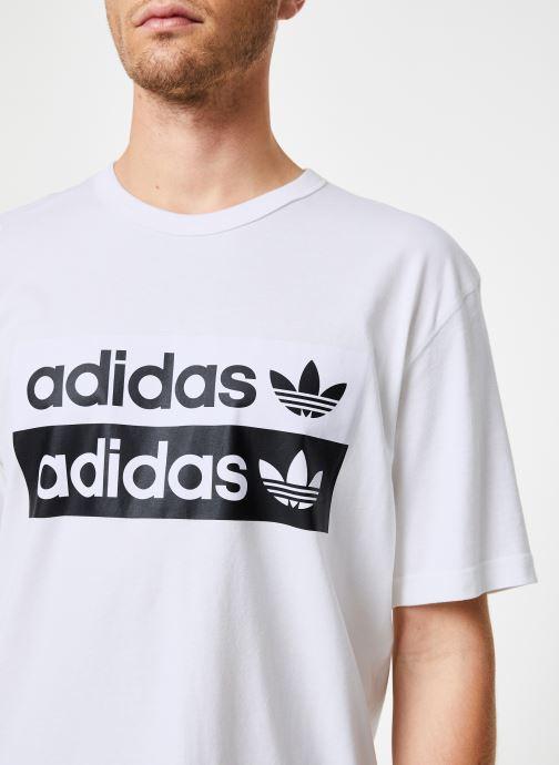 Vêtements adidas originals Vocal Logo Tee Blanc vue face