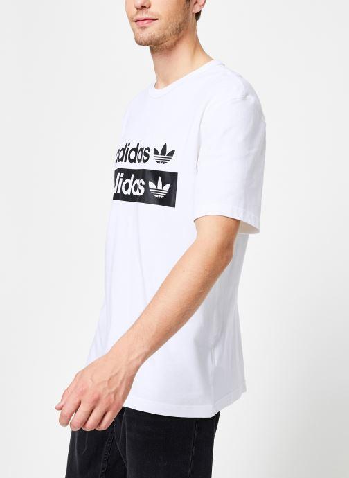 Vêtements adidas originals Vocal Logo Tee Blanc vue droite
